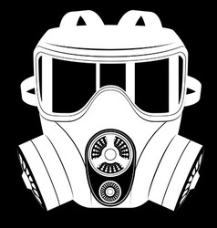Gas mask black and white 06 vector