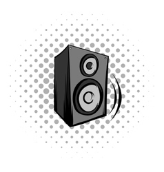 Audio speaker comics icon vector