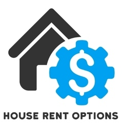 House rent options icon with caption vector