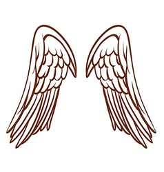 A simple sketch of an angels wings vector image
