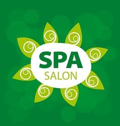Abstract logo for Spa salon vector image vector image