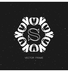 Art-deco frame vector
