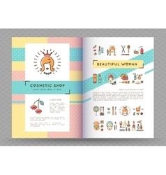 Beauty banner cosmetic brochure catalog beautiful vector