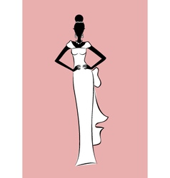 bride fashion sketch vector image vector image