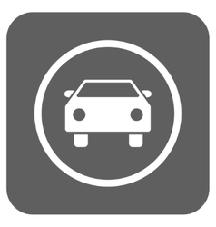 Car Flat Squared Icon vector image