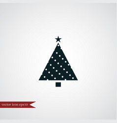 christmas tree icon simple vector image vector image
