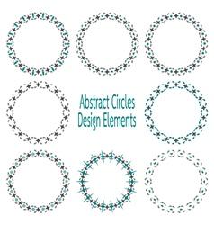 Circle design elements vector
