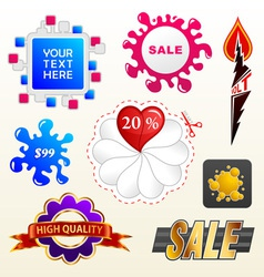 collection of sale elements vector image vector image