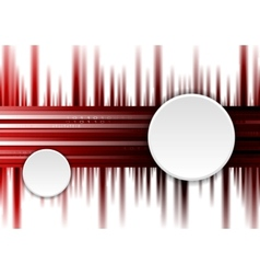Dark red tech background with white circles vector