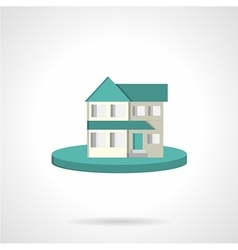 Housing flat style icon vector image vector image