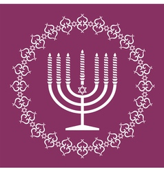 Jewish menorah holiday background vector image vector image