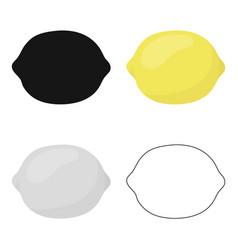 Lemon icon cartoon singe fruit icon vector