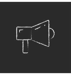 Megaphone drawn in chalk vector
