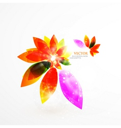 modern leaves vector image vector image