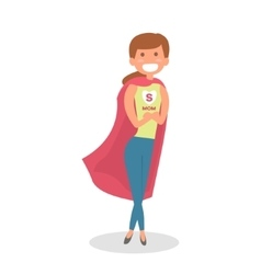 Mother super hero mom hero isolated vector
