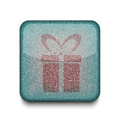 present gift icon vector image vector image