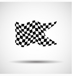 racing background checkered flag vector image vector image