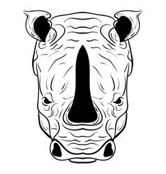 rhino doodle sketch vector image vector image
