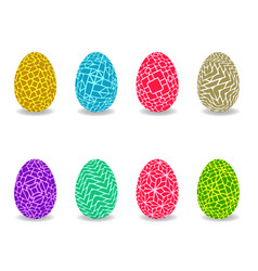 set of easter egg with pattern vector image vector image