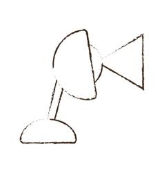 Sketch draw lamp desk bulb light vector