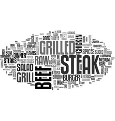 steak word cloud concept vector image