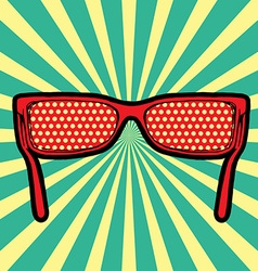 sunglasses pop art vector image