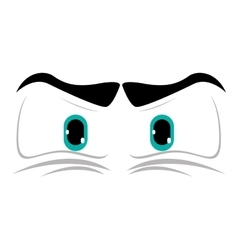 Angry cartoon eyes icon vector