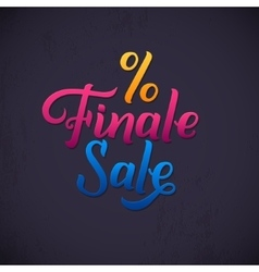 Finale sale inscription calligraphy lettering vector
