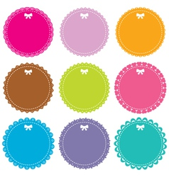 Circle frames set vector