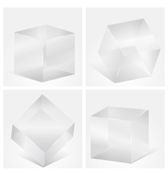 Glass cubes vector