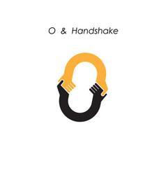 Creative o letter icon abstract logo design vector