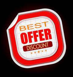 best offer stick sale vector image