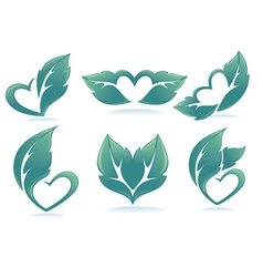 Eco hearts vector