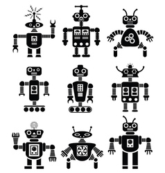 Mechanical robots vector