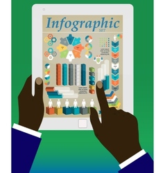 Graphs and charts being demonstrated vector image