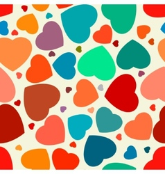 Hearts seamless Background EPS 8 vector image