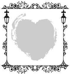 Antique frame ornaments vector
