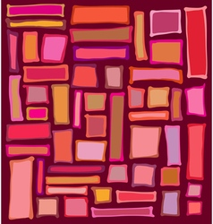 Liquid rectangle and square shapes in red pink ora vector