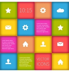 Colorful squared infographic ui design vector