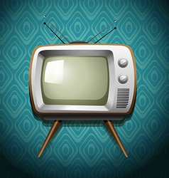 Retro television on wallpaper vector image