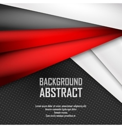 Abstract background of red white and black vector