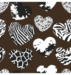 Seamless pattern with heart shapes vector