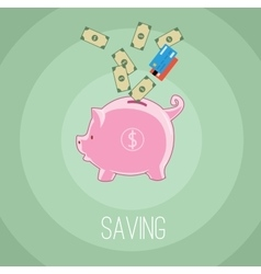 Saving money vector