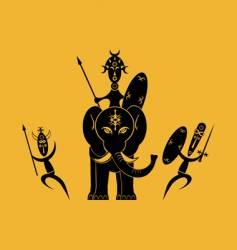 African warriors vector