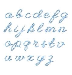 Bakers twine alphabet vector