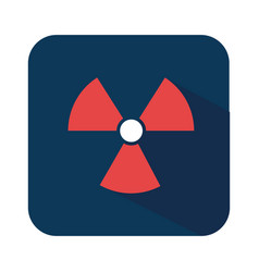 Biohazard symbol alert icon vector