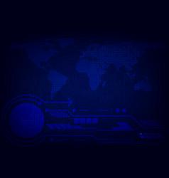 Blue digital technology for business concept vector