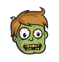 Boy zombie head vector