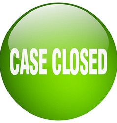 Case closed green round gel isolated push button vector