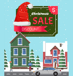 Christmas sale off poster vector